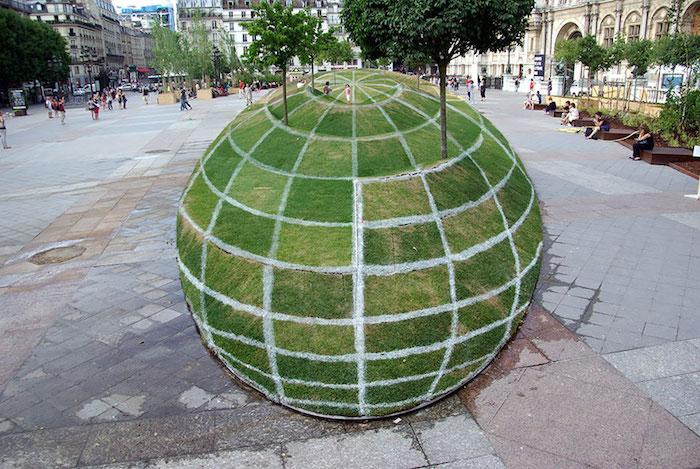 FOTO Ilusión de hierba, París