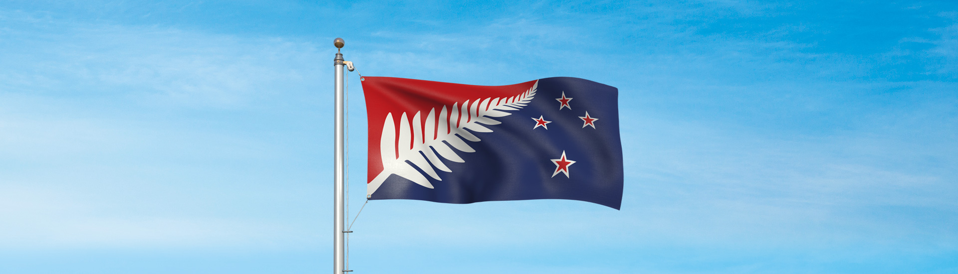 Silver Fern (Red, White and Blue) de Kyle Lockwood