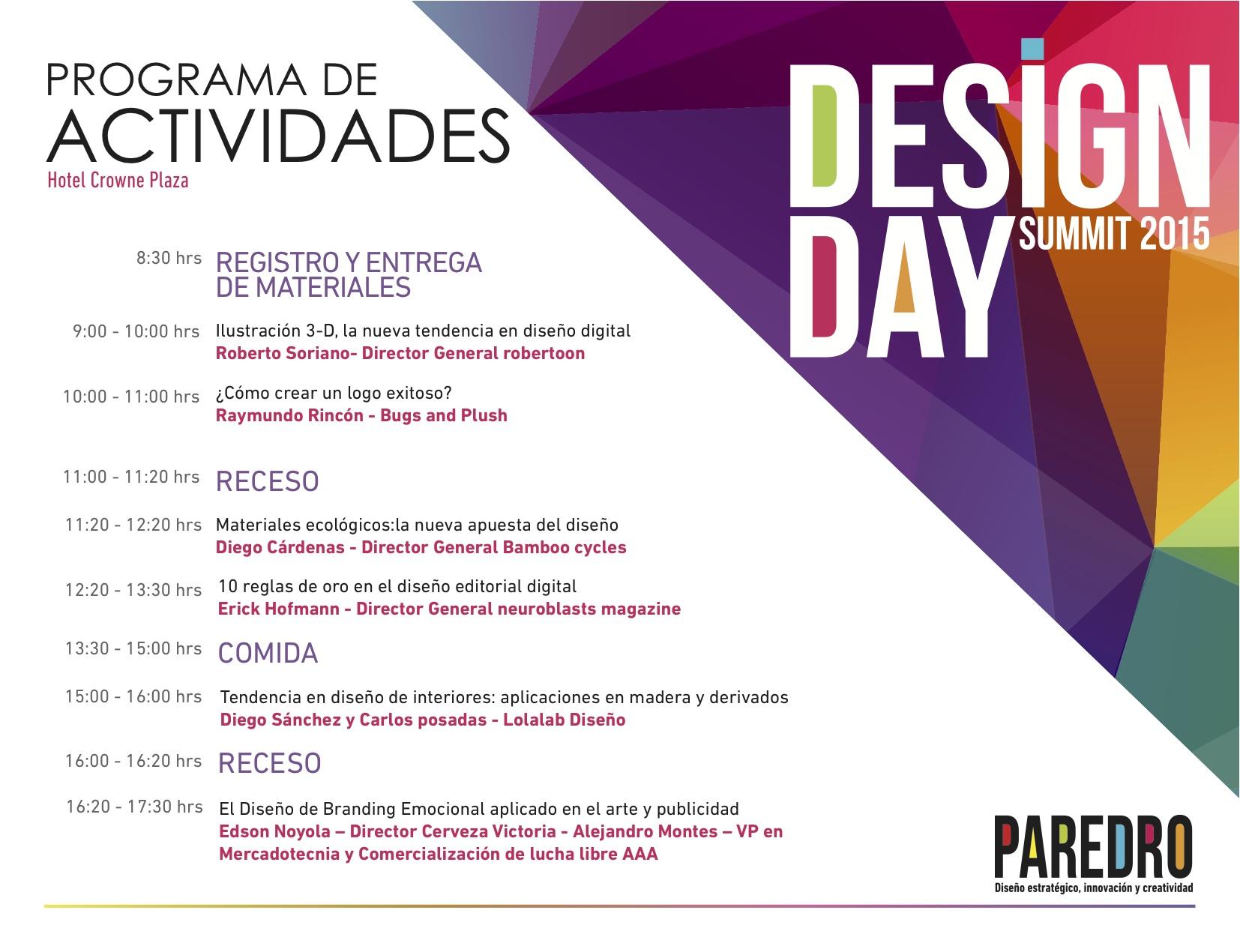 Programa Design Day