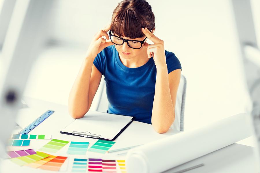 interior design and renovation concept - stressed interior desig