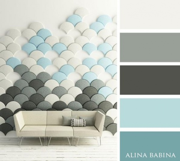 Dise o de interiores 15 paletas de colores que transforman ambientes - Paleta de colores pintura pared ...