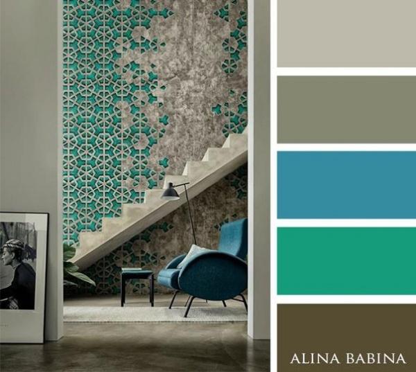 Dise o de interiores 15 paletas de colores que - Combinacion de colores para pintar interiores ...