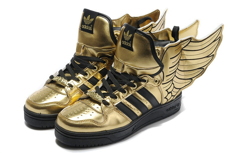 Adidas Jeremy Scott Wings pas cher d 'or chaussures zapatillas