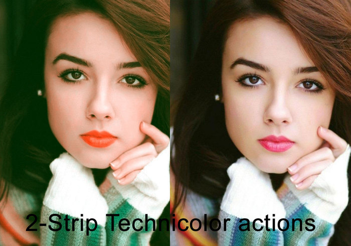 2-strip-technicolor-photoshop-actions
