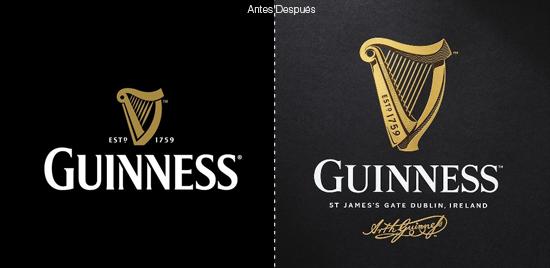 guinness con su nuevo logo quiere evocar un proceso
