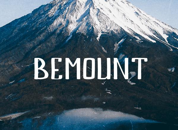 Bemount+free+fonts