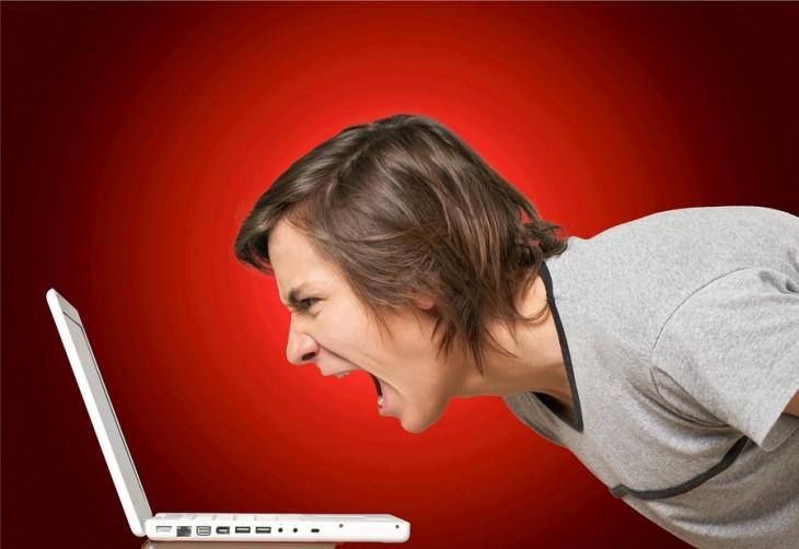 Computer Frustration Problems Displeased Anger Men Emotional Stress