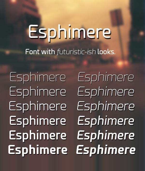 Esphimere+free+font