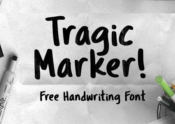 Tragic+Marker+free+fonts