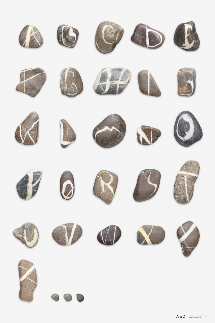 real stones font