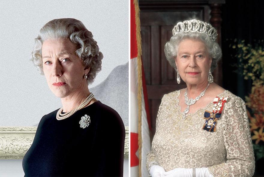 Helen Mirren como la Reina Isabel