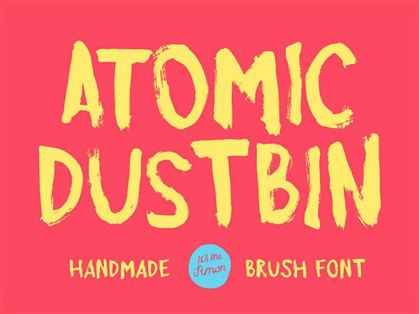 Atomic-Dustbin-Font