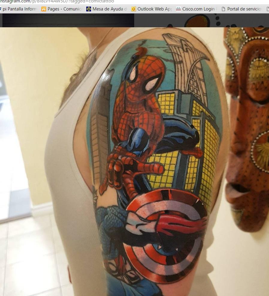 Los cómics inspiran también el diseño de tatuajes