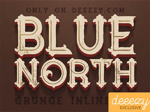 Free-Font-Blue-North-Inline-Grunge
