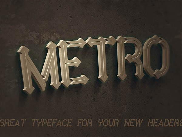 Free-Font-Metro-Inline
