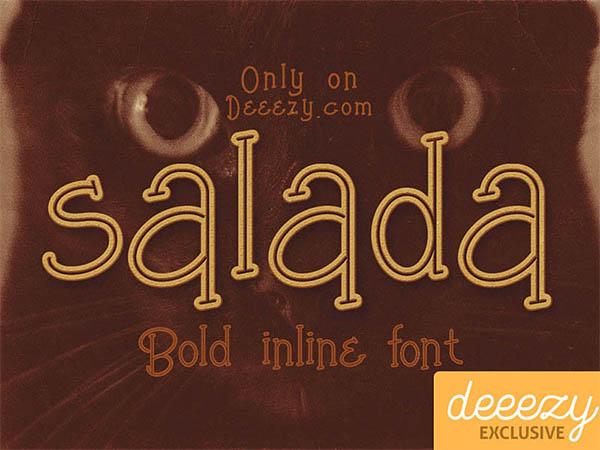 Free-Font-Salada-Bold-Inline
