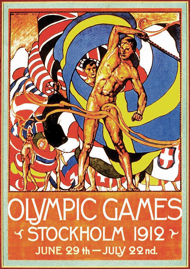 1 Jan 1999: An offical poster from the 1912 Stockholm Olympic Games on display at the IOC Olympic Museum in Lausanne, Switzerland. Mandatory Credit: IOC Olympic Museum /Allsport