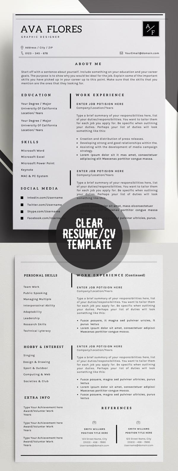 13 templates de CV para creativos | paredro.com