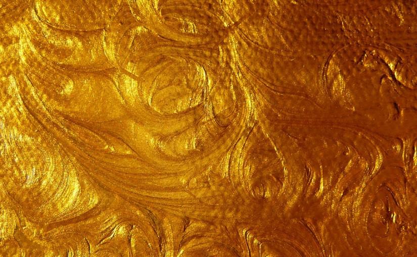 Texturas que le dar n un toque diferente al dise o for Pintura dorada para pared