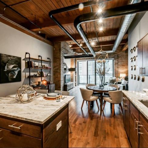 Dise o interior 6 caracter sticas del estilo industrial - Iluminacion estilo industrial ...