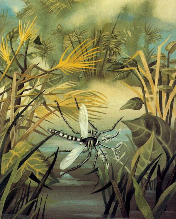 Malaria, pieza pictórica que Remedios Varo realizó para publicidad de Bayer.