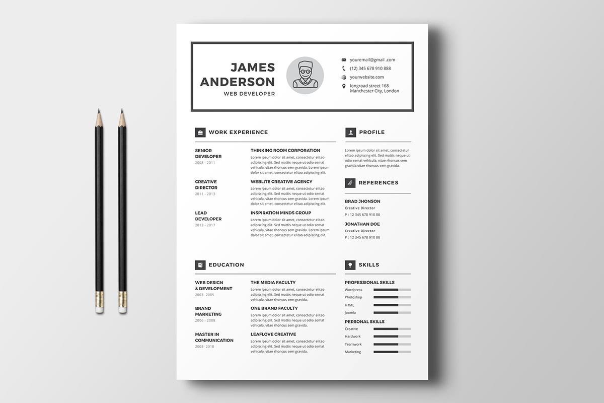 10 plantillas de CV para proyectar tu trabajo y el de tus clientes ...
