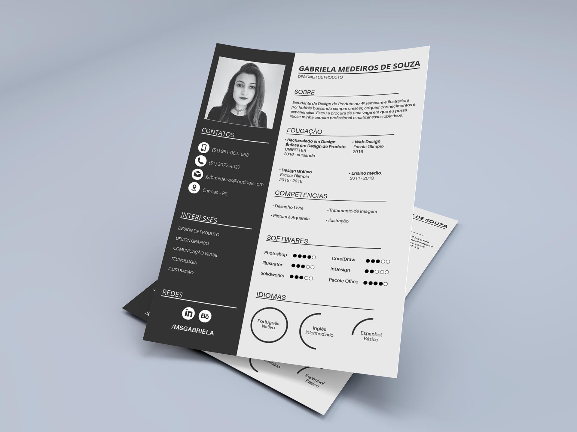 currículum habilidades de diseñador