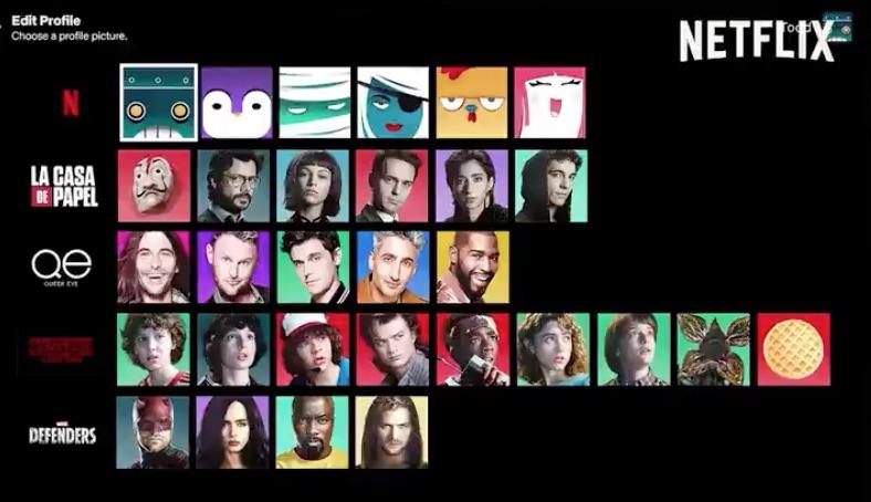 Tras la creación de los perfiles de Netflix en 2013, no se habían agregado o modificado hasta ahora, puedes elegir personajes de tus series favoritas.