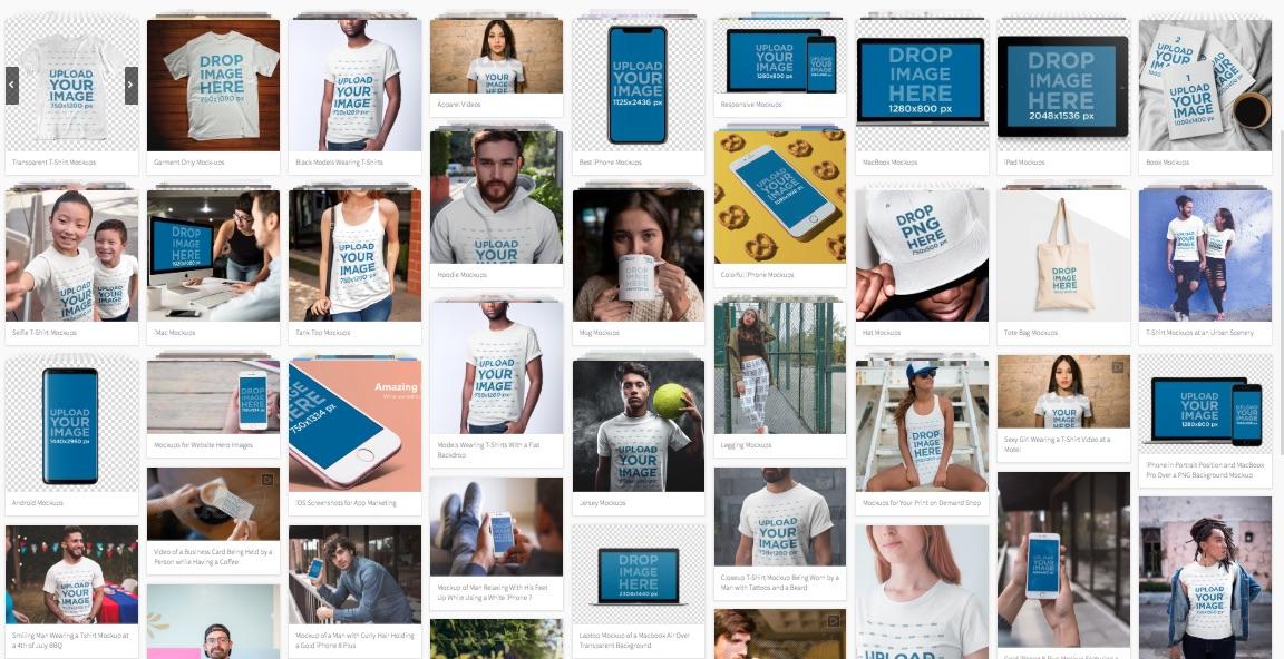 Encuentra los templates de diseño actualizados a formatos como iPhone, Android, Smartwatch y productos promocionales como camisetas, tazas, bolsas.