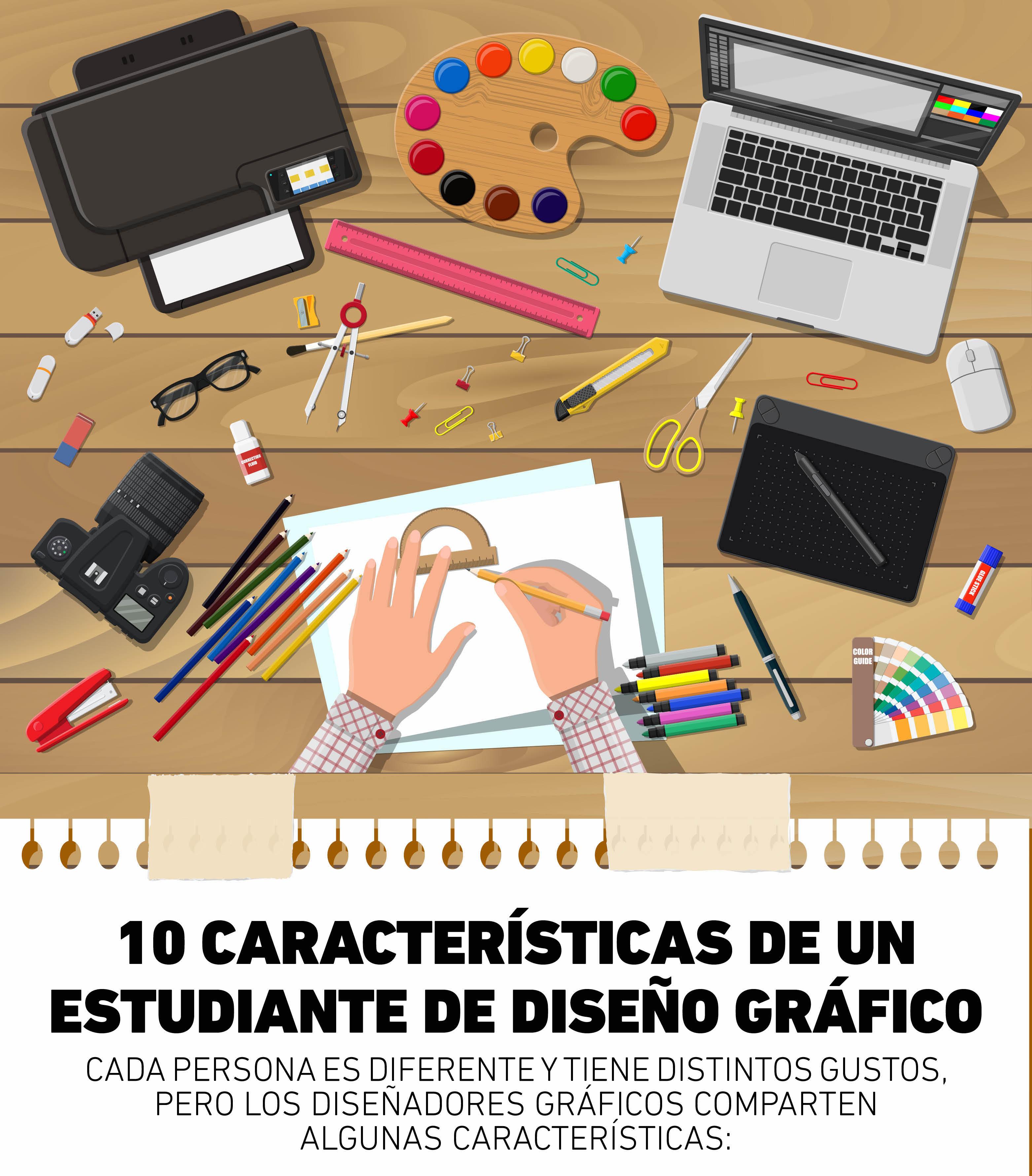 Aunque todos tienen personalidades diferentes, existen características de un estudiante de diseño gráfico que los hace identificarse entre todos.