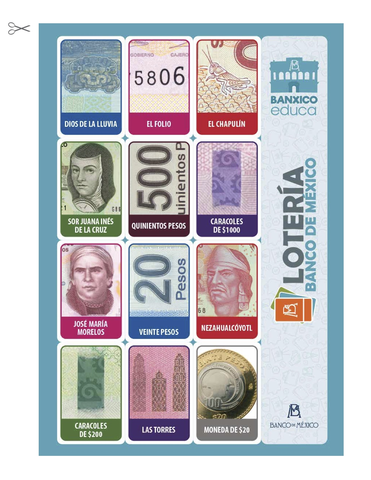 Antes de que los nuevos billetes mexicanos salgan, Banxico pone a disposición una lotería con los detalles de los antiguos diseños del dinero.
