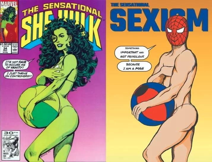 Shreya Arora modificó cinco portadas de cómics para evidenciar la hipersexualización de los cuerpos, así como poses exageradas en estos dibujos.