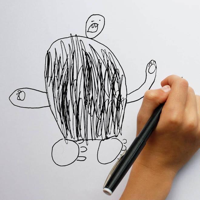 Los dibujos de un niño son transformados en realidad con ayuda de su papá y photoshop, sus creaciones son publicadas en @thingsihavedrawn.