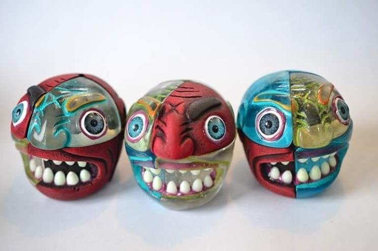 Diseño industrial mexicano: Carni Camilo, cubos rubik en forma de cabeza