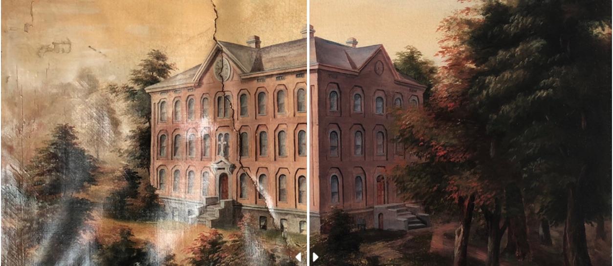 Mira la asombrosa restauración de obras de arte a cargo del estudio especializado Baumgartner Fine Art Restoration (VIDEO).
