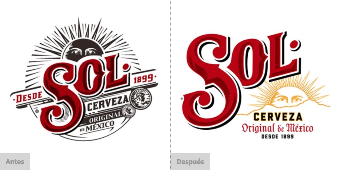 """La Cerveza Sol renovó su imagen para darle importancia a sus elementos visuales característicos, así como para """"limpiar"""" el logotipo"""