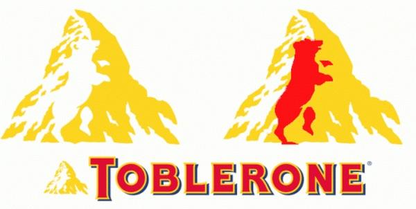 El logo de Toblerone muestra el monte Cervino, uno de los picos más altos de los Alpes suizos, pero éste oculta algo más representativo.