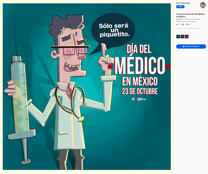 El Día de Médico en México se celebra el 23 de octubre 1937 en honor al doctor Valentín Gómez Farías, una fecha anual para conmemorar a estos profesionistas