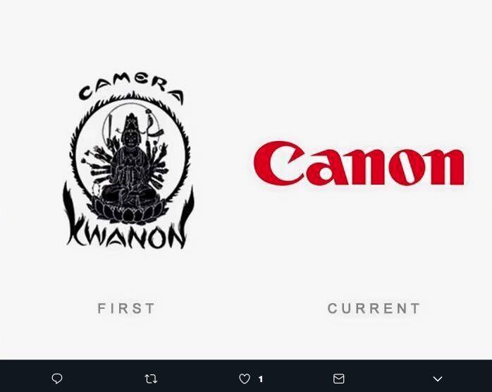 El logotipo de Canon surgió como una representación de Kwan Yin, la diosa diosa budista de la misericordia, y la marca se llamaba