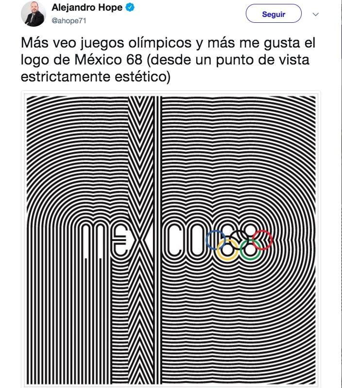 El logotipo de los Juegos Olímpicos de México 1968 fue innovador en su época, tanto por su utilización en toda la ciudad como por su tipografía.