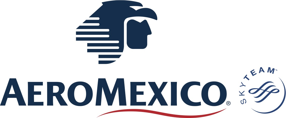 El logotipo de Aeroméxico comenzó solamente como una águila, después adoptaron el guerrero águila de los mexicas para representar la fuerza y el vuelo.