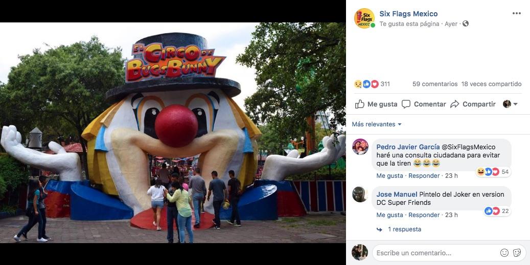 El túnel de cara de payaso de Six Flags será removida para siempre, debido a remodelaciones dentro del parque para nuevas atracciones.
