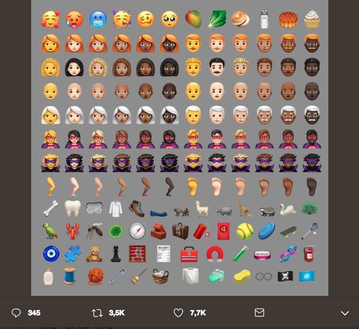 Son más de 70 nuevos emojis de iOS y aunque apenas estamos terminando de descubrirlos, estos son los más aceptados de acuerdo a Emojipedia.