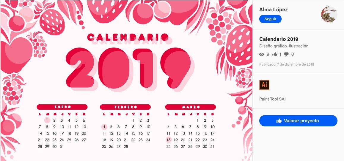 Calendario El Grafico 2019 Pdf.Disenos Creativos Para El Calendario 2019 Plantillas