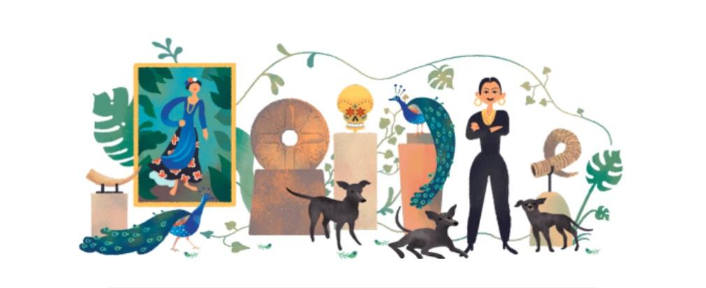 Dolores Olmedo es una filántropa del arte y su exposición abierta al público, hoy Google le rinde homenaje en lo que sería su cumpleaños 110.