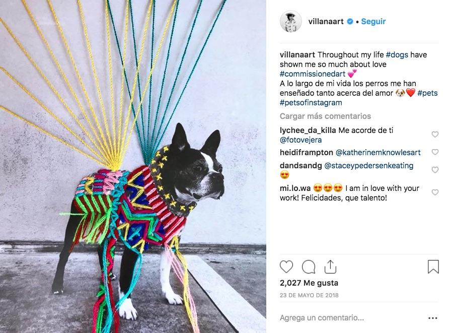Viictoria Villasana es una artista textil que borda retratos en blanco y negro con técnicas artesanales mexicanas, creando contrastes increíbles.