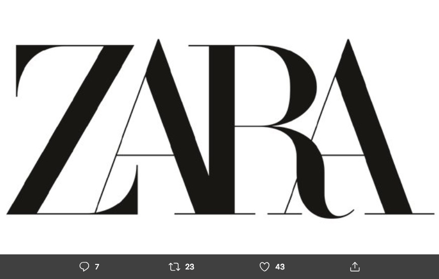El logo de Zara se modifica por segunda vez desde su fundación en 1975 y las críticas de diseñadores y clientes no son positivas.