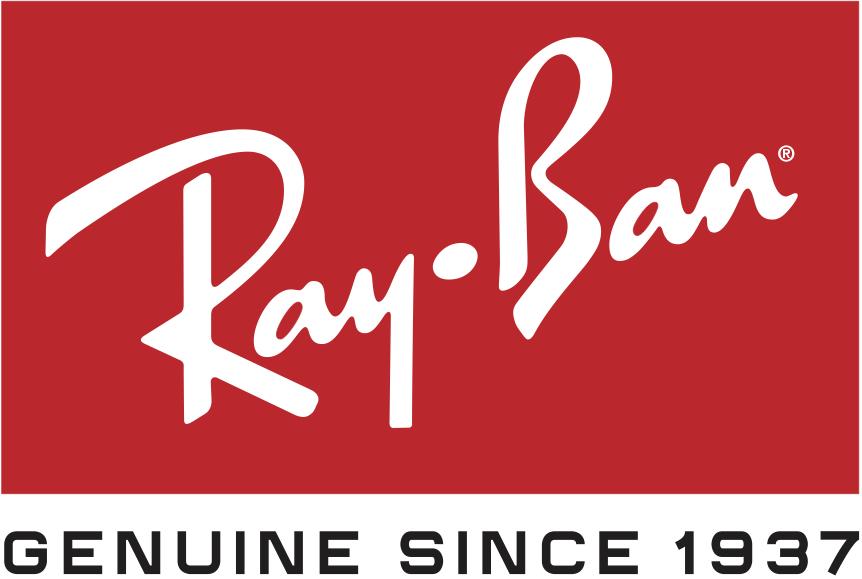 El logotipo de Ray Ban es meramente eso, dado que su nombre es la característica más importante de los lentes y el por cuál son tan aclamados.