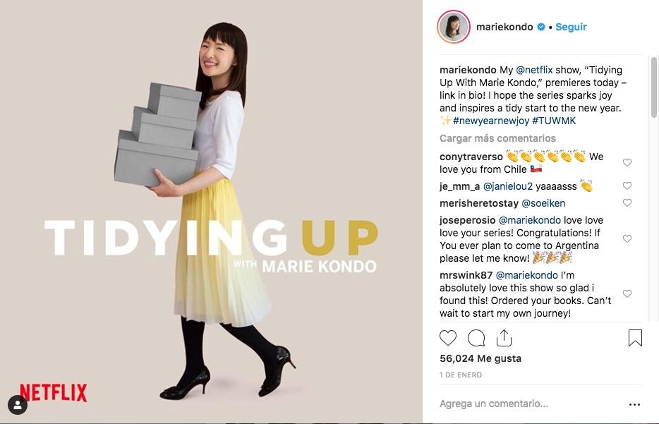 Marie Kondo y Netflix se unieron para mostrar