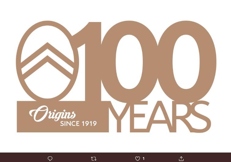 El logotipo original de Citröen regresa para rendir homenaje a sus orígenes, esto como festejo en su primer centenario de su fundación.